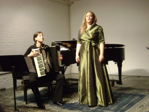 Ali's Mosaic concert with guest virtuostic accordionist, Ina Henning